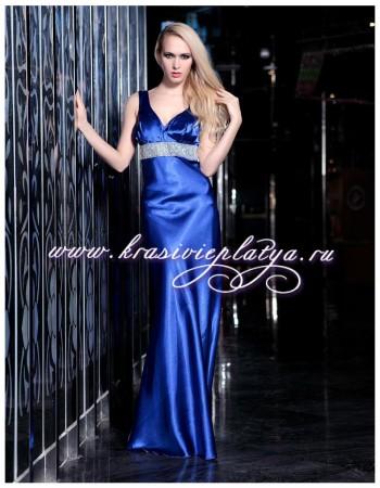 Элегантное вечернее синее платье