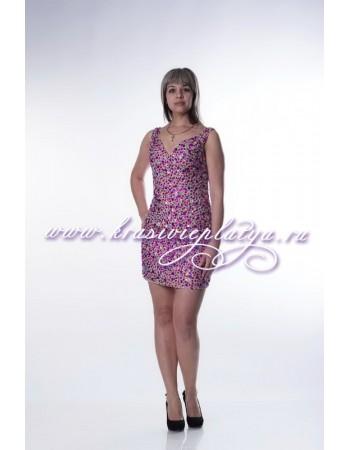 Короткое платье с камнями