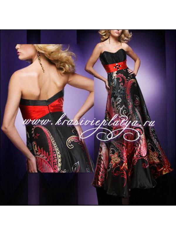 Черно красное платье с доставкой