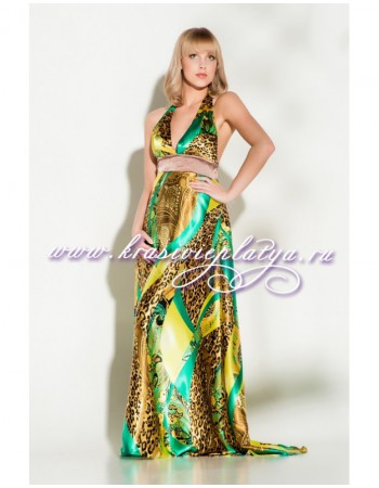 Роскошное вечернее платье с леопардовым принтом