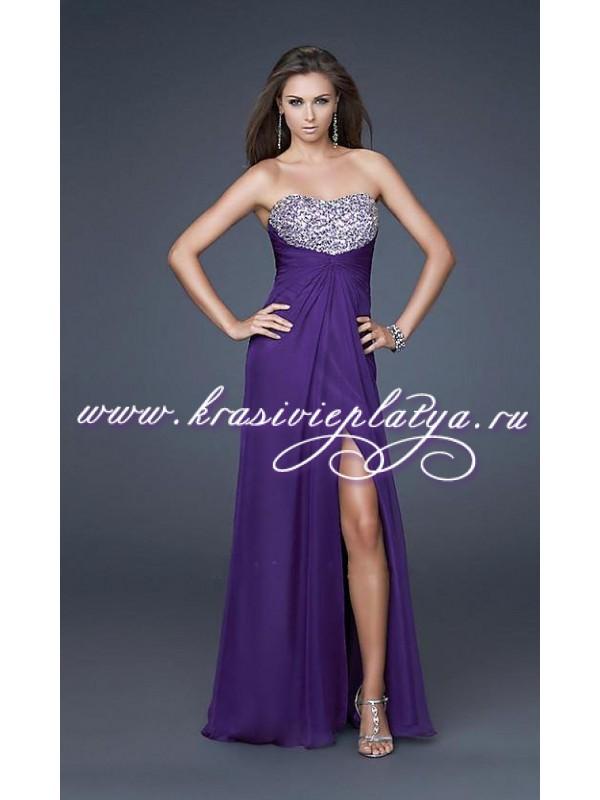 Фиолетовое платье заказать