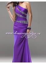 Вечернее фиолетовое платье в пол