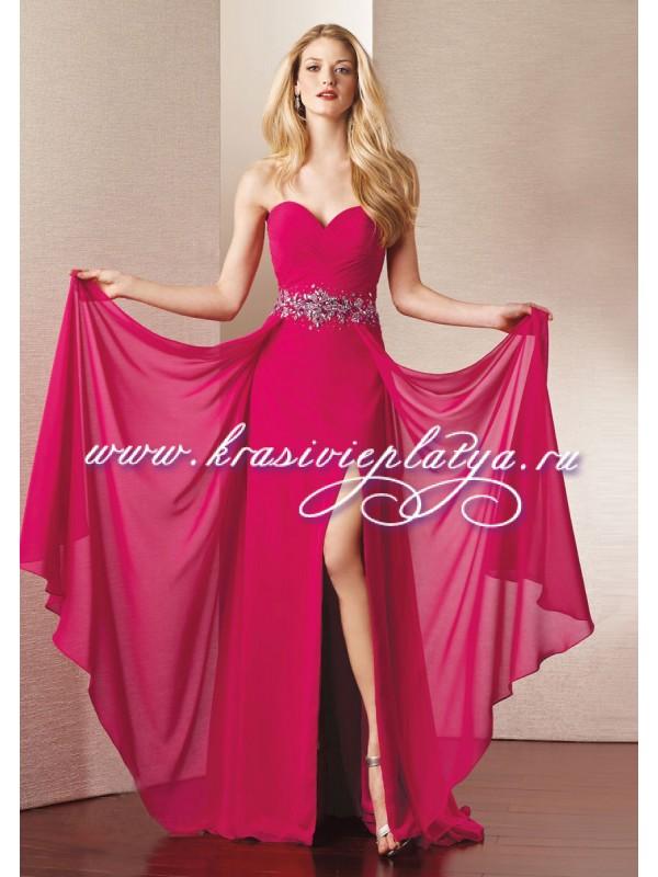 Розовое платье длинное фото