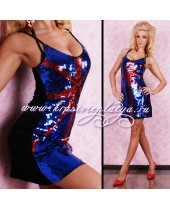 Короткое платье с британским флагом
