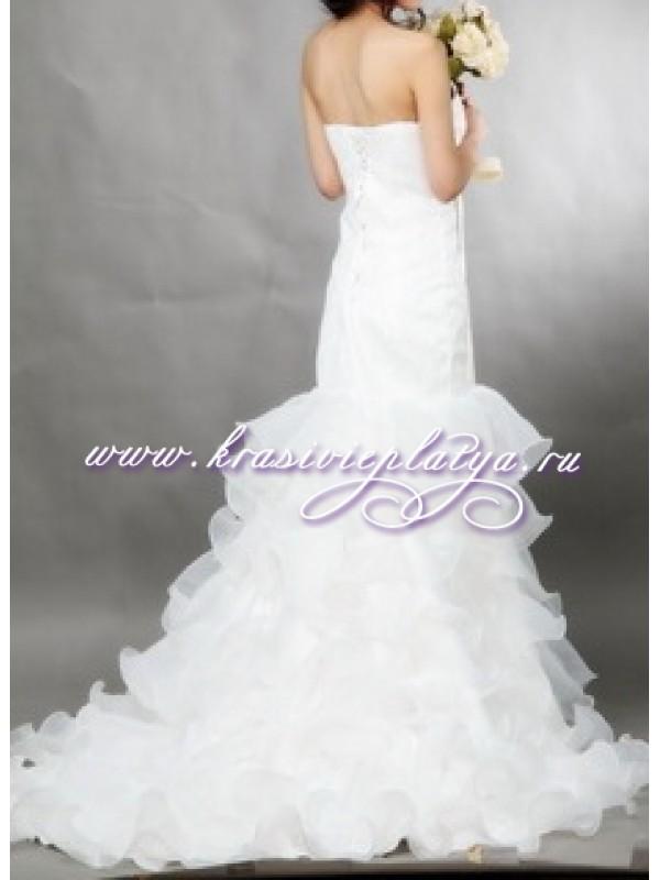 Свадебное платье русалка со шлейфом