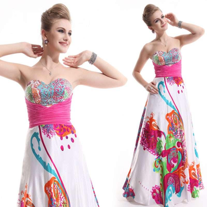 купить платье с разноцветным принтом